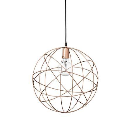 ACHICA | Bloomingville Modern Pendant Lamp, Copper
