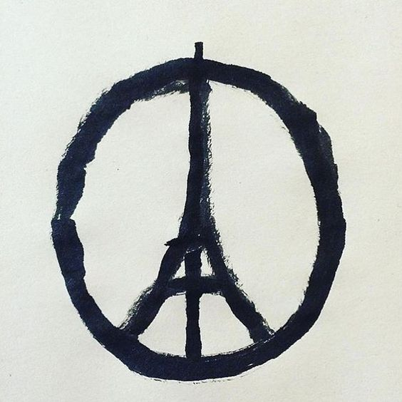 The Peace for Paris sketch by Banksy that has gone viral in response to the recent terrorist tragedy. Such an awful event - my thoughts are with the families and friends of the victims.