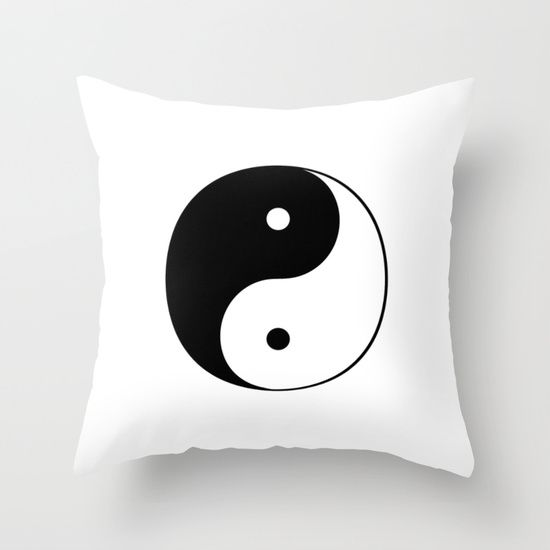 Buy Black and White Yin Yang by Tina A Stoffel Arts as a high quality Throw Pillow. Worldwide shipping available at Society6.com. Just one of millions of products available.