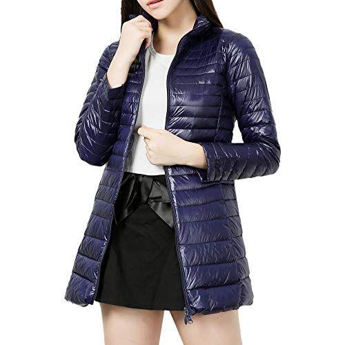 iHAZA Packable Down Coat Women Light Weight Long Down Jacket