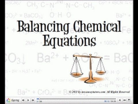 how to make a balanced equation in chemistry