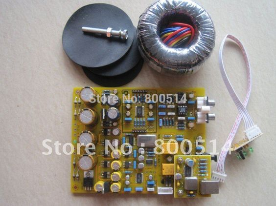 $118.00 (Buy here: http://appdeal.ru/ea75 ) Full Assembled WM8741 DAC Board CS8421 Up-Sampling - --with Toroid transformer for just $118.00