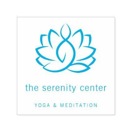 Lotus Meditation Yoga Group Or Teacher Business Self Inking Stamp Zazzle Com Group Yoga Self Inking Stamps Yoga Meditation