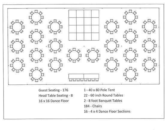 Tent Layouts Seating Capacity Chart Aa Party And Tent Rentals Dallas Seating Chart Wedding Template Wedding Table Layouts Wedding Reception Tables Layout
