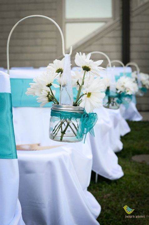 Candelabra Centerpieces Wedding Chair Sashes Turquoise