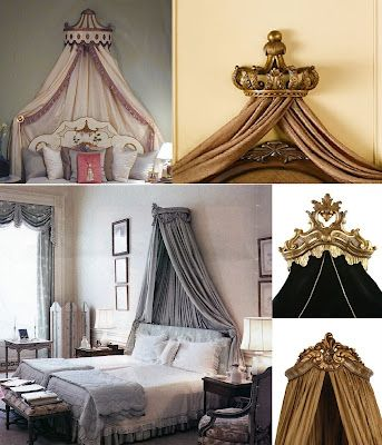 Jackie Blue Home: Bed Crowns Fit For a King