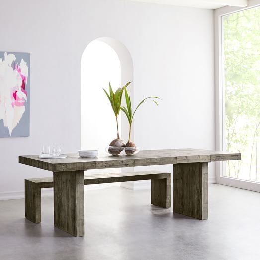 Anton Solid Wood Dining Table Expandable Dining Table Wood