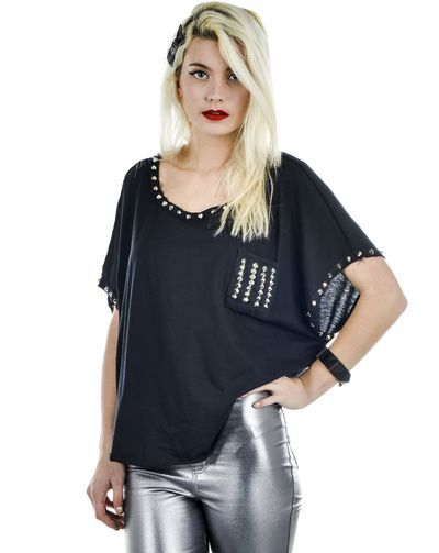 Black Studded Top