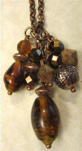 Copper Elements Pendant Necklace - 8.00