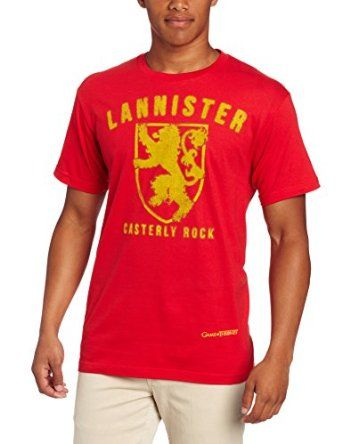 HBO'S Game of Thrones Men's Lannister T-Shirt 53 customer reviews List Price: $29.99 Price: $9.99 - $19.99 Disc: Affiliate Link