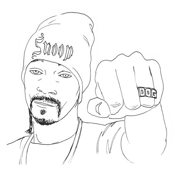 Snoop Dogg   Hip Hop Coloring Book compiled by Jamee ...