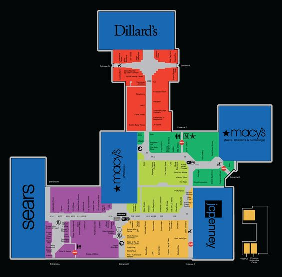 Mall Map For Edison Mall A Simon Mall Located At Fort Myers