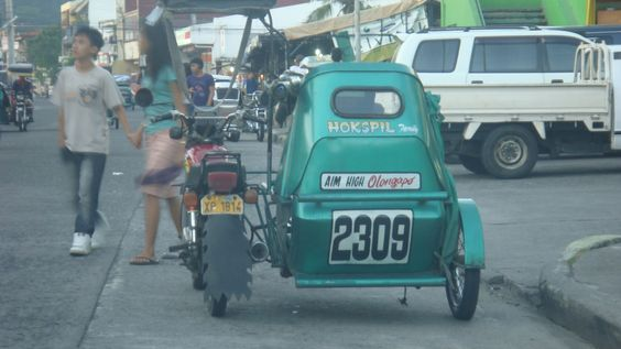 A motorized tricyle in Olongapo City.