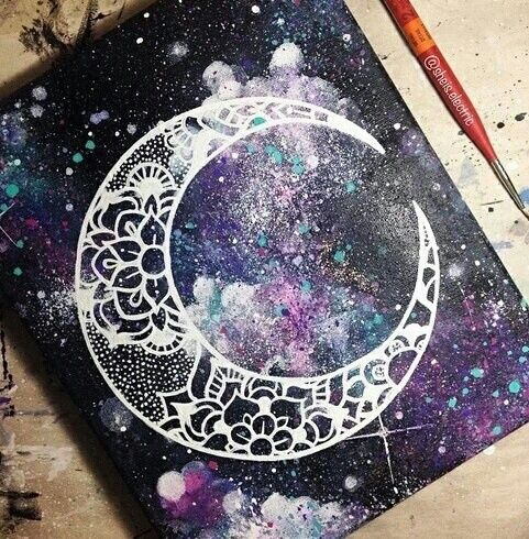 Imagem de moon, art, and drawing