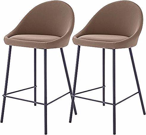 Chaise De Bar Misty Marron 65cm Lot De 2 In 2020 Home Decor