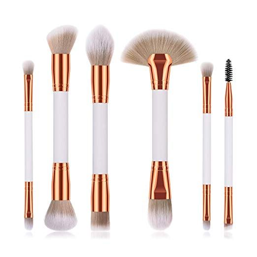 6 Pieces Professional Double Sided Ended Makeup Brushes Set Makeup Natural Makeup Brush Set Makeup Brushes Beauty Makeup