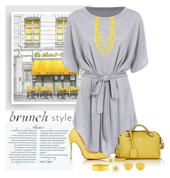 """Brunch style"" by brenease ❤ liked on Polyvore featuring Fendi, Christian Louboutin, Kate Spade, Madison Parker and Mykita"