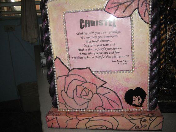Mixed media plaque