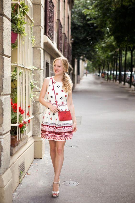 Sunday stroll in Paris Topshop dress & Furla bag