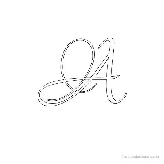 Calligraphy Alphabet Stencil A Free Download Available
