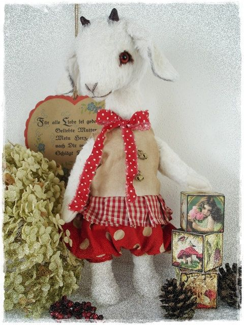 "PDF Instant Download - Pattern / E-Book Goat "" SCHNUCKI "" :) - 12 Inch - by Eileen Seifert - Teddy-Manufaktur.de"