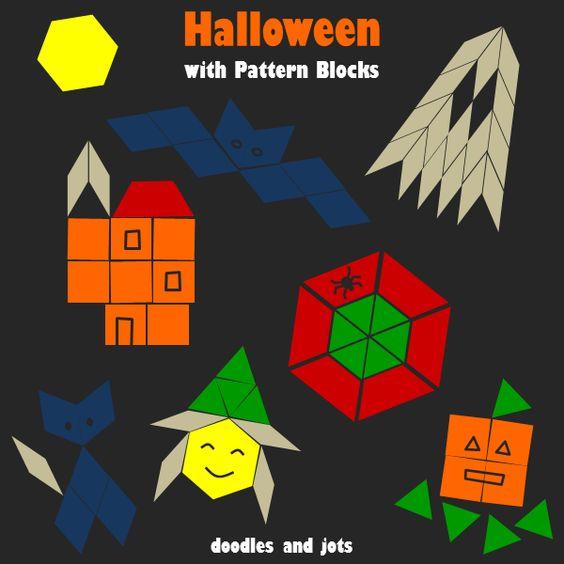 Pattern blocks, Halloween and Halloween patterns on Pinterest