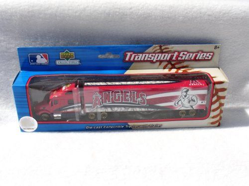 LIMITED EDITION GOLD WHEELS VARIATION 2008 LOS ANGELES ANGELS MLB SEMI DIECAST TRACTOR TRAILER TRUCK by UPPERDECK