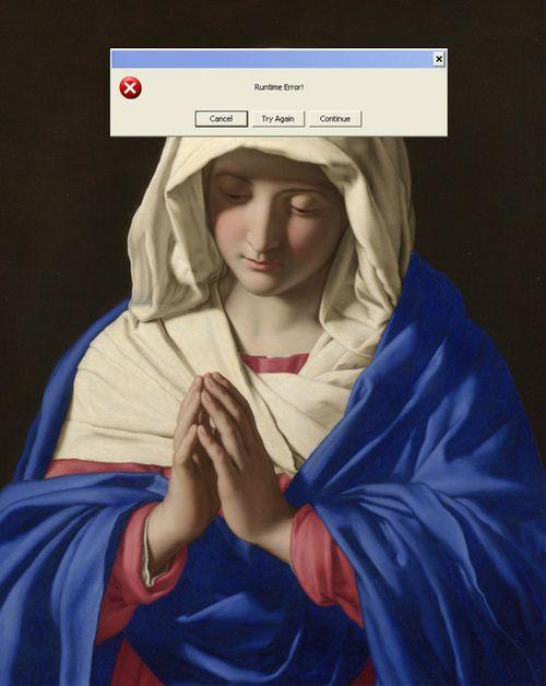 """Nastya Nudnik (Ucrânia) - A artista uniu clássicos """"glitch"""" dos sistemas operacionais e botões de aplicativos à pinturas famosas."""