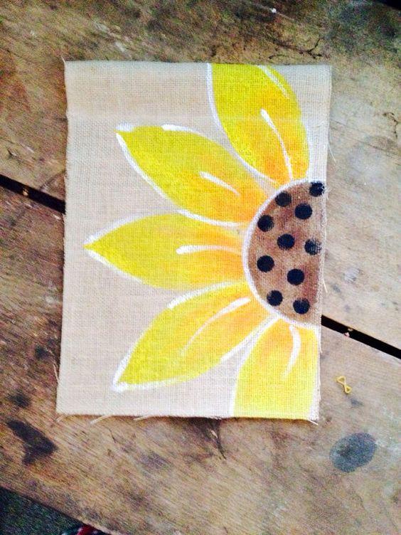Items Similar To Yellow Sun Flower Burlap Garden Flag Fall,Spring Or Summer  On Etsy