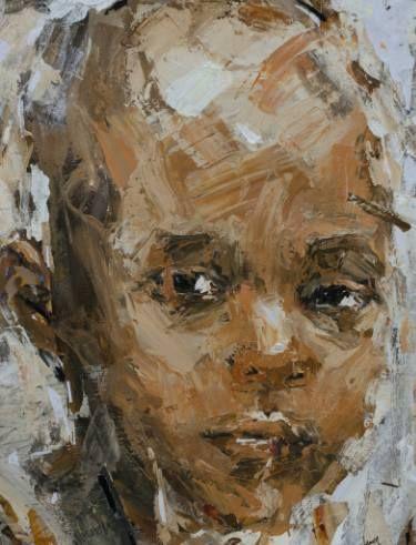 "Saatchi Art Artist Benon Lutaaya; Painting, ""Suspiciously Distrustful (SOLD)"" #art"