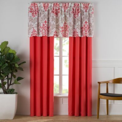 Buy Carina Window Curtain Panel Pair in Coral from Bed Bath Beyond ...