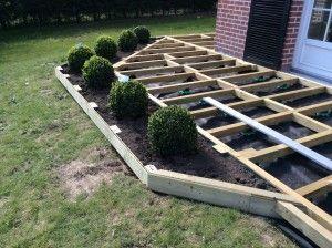 terrasse en bois sur lev e tape 2 terrasse en bois pinterest articles. Black Bedroom Furniture Sets. Home Design Ideas