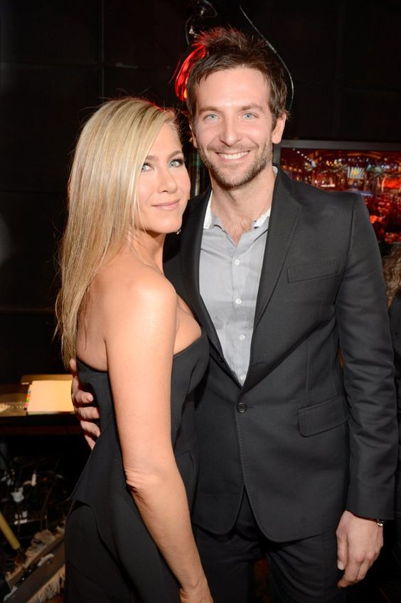 Pin for Later: Birthday Girl Jennifer Aniston's Got More Famous Friends Than We Can Count  Jen linked up with her friend (and ex-fling) Bradley Cooper backstage at the Spike TV Guys' Choice Awards in June 2013.