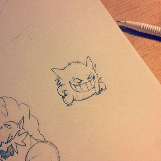 Gengar (rough sketch) #pokemon #fanart #art #illustration #anime #manga #doodle #sketch #nintendo #nintendo3ds #vgc #videogames #cartoon #ghost #sketchbook