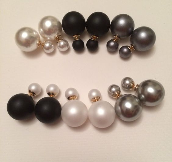 This seasons hottest trend!! So cute and stylish! Double Sided Faux Pearl is top quality, so light and comfortable! The classic colors are my