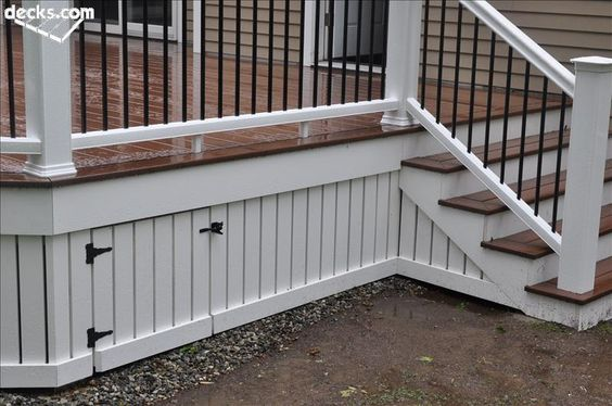 instead of using lattice under the deck - Google Search