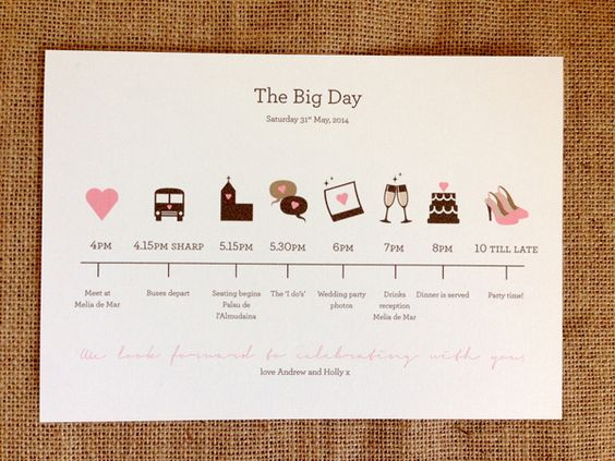 rustic order of service wedding - Google Search