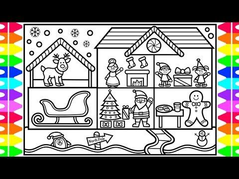 How To Draw Christmas Characters For Kids Christmas Characters Drawings And Coloring Pages Youtube