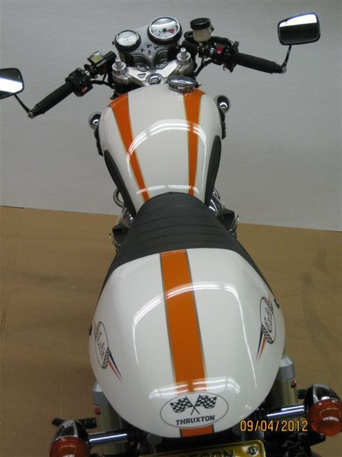 Triumph Thruxton Custom Paint To Go Along With The Orange - Decal graphics for motorcyclesmotorcycle gas tank customizable stripes graphics decal kits