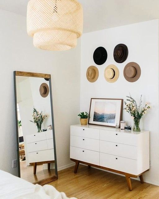 Inspired By Old Factory Spaces In Brooklyn This Iron And Mango Wood Floor Mirror Adds Industrial Style To Ro Stylish Bedroom Stylish Bedroom Design Home Decor