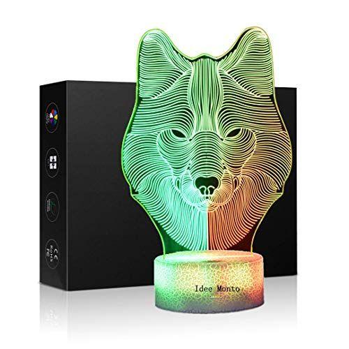 3d Children Kids Night Lamp Wolf Shape Toys For Boys 7 Https Www Amazon Com Dp B07ldd69s6 Ref Cm Sw R Pi Dp U X 0fzpcbfwcc6f5 Kids Night
