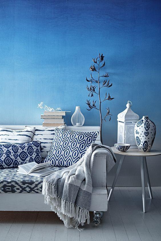 10 Fotos De Salas Azules Decoracion Del Hogar Azul Interiores