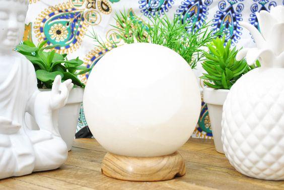Globe White Himalayan Salt Lamp.