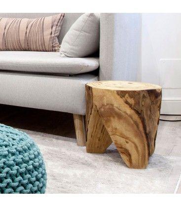 Si buscas una nota natural para tu casa, este tronco es perfecto para ti. Reposapiés, peana, mesilla auxiliar, mesilla de noche... mil y un usos te esperan.