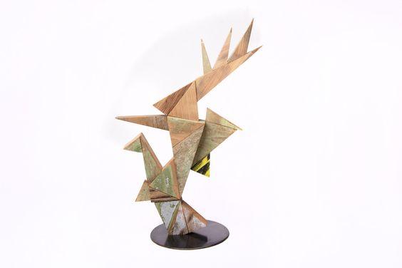 MARTIN VIECENS   Sculptural object    Recycled wood   Assemblies