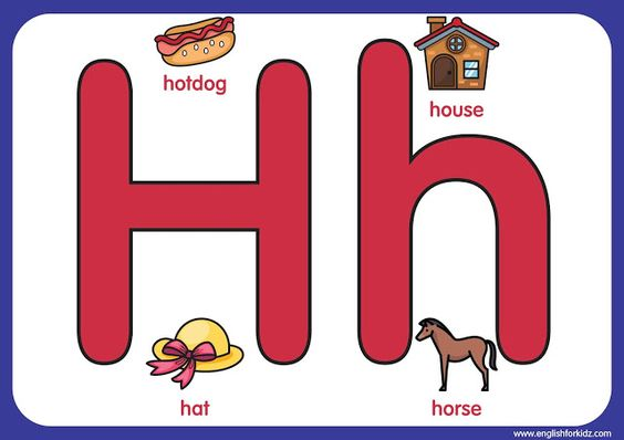 English Abc Letter H Printable Alphabet Letters Alphabet Printables Alphabet Flashcards Letter t worksheets flashcards coloring