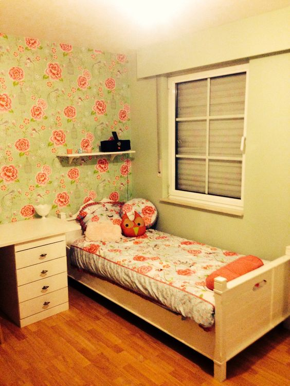 slaapkamer myrthe, pip studio behang, oude kleerkast, Deco ideeën