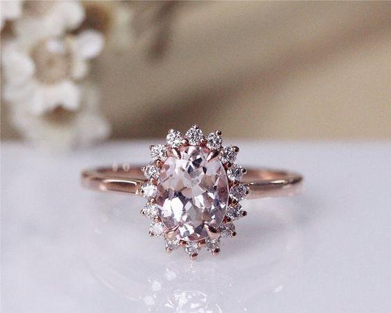 6x8mm puro Vintage anillo 14K oro rosa allanar por JulianStudio