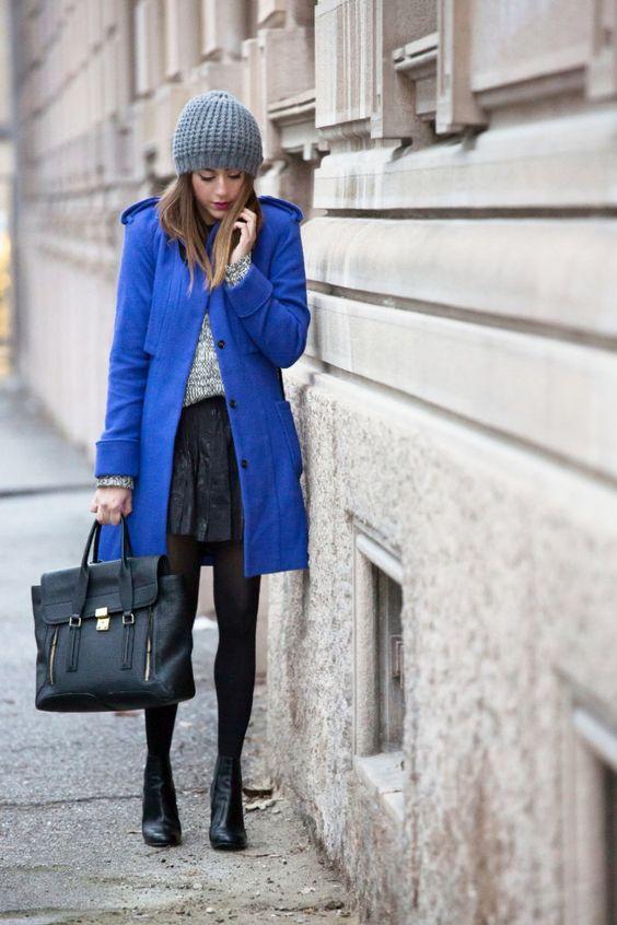 Blu E Nero Per Un Outfit Invernale