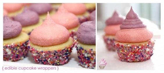 Cupcake com forminha comestível